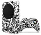 WraptorSkinz Skin Wrap compatible with the 2020 XBOX Series S Console and Controller Scattered Skulls White (XBOX NOT INCLUDED)