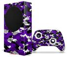 WraptorSkinz Skin Wrap compatible with the 2020 XBOX Series S Console and Controller WraptorCamo Digital Camo Purple (XBOX NOT INCLUDED)