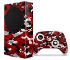 WraptorSkinz Skin Wrap compatible with the 2020 XBOX Series S Console and Controller WraptorCamo Digital Camo Red (XBOX NOT INCLUDED)