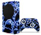 WraptorSkinz Skin Wrap compatible with the 2020 XBOX Series S Console and Controller Electrify Blue (XBOX NOT INCLUDED)