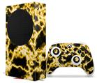 WraptorSkinz Skin Wrap compatible with the 2020 XBOX Series S Console and Controller Electrify Yellow (XBOX NOT INCLUDED)