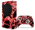 WraptorSkinz Skin Wrap compatible with the 2020 XBOX Series S Console and Controller Electrify Red (XBOX NOT INCLUDED)