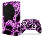 WraptorSkinz Skin Wrap compatible with the 2020 XBOX Series S Console and Controller Electrify Hot Pink (XBOX NOT INCLUDED)