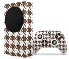 WraptorSkinz Skin Wrap compatible with the 2020 XBOX Series S Console and Controller Houndstooth Chocolate Brown (XBOX NOT INCLUDED)