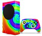 WraptorSkinz Skin Wrap compatible with the 2020 XBOX Series S Console and Controller Rainbow Swirl (XBOX NOT INCLUDED)
