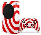 WraptorSkinz Skin Wrap compatible with the 2020 XBOX Series S Console and Controller Bullseye Red and White (XBOX NOT INCLUDED)