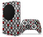 WraptorSkinz Skin Wrap compatible with the 2020 XBOX Series S Console and Controller XO Hearts (XBOX NOT INCLUDED)