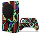 WraptorSkinz Skin Wrap compatible with the 2020 XBOX Series S Console and Controller Crazy Dots 04 (XBOX NOT INCLUDED)