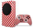 WraptorSkinz Skin Wrap compatible with the 2020 XBOX Series S Console and Controller Checkered Canvas Red and White (XBOX NOT INCLUDED)