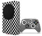 WraptorSkinz Skin Wrap compatible with the 2020 XBOX Series S Console and Controller Checkered Canvas Black and White (XBOX NOT INCLUDED)