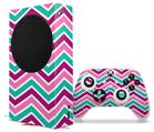 WraptorSkinz Skin Wrap compatible with the 2020 XBOX Series S Console and Controller Zig Zag Teal Pink Purple (XBOX NOT INCLUDED)