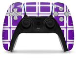 WraptorSkinz Skin Wrap compatible with the Sony PS5 DualSense Controller Squared Purple (CONTROLLER NOT INCLUDED)