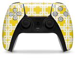 WraptorSkinz Skin Wrap compatible with the Sony PS5 DualSense Controller Boxed Yellow (CONTROLLER NOT INCLUDED)