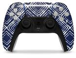 WraptorSkinz Skin Wrap compatible with the Sony PS5 DualSense Controller Wavey Navy Blue (CONTROLLER NOT INCLUDED)