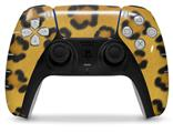 WraptorSkinz Skin Wrap compatible with the Sony PS5 DualSense Controller Leopard Skin (CONTROLLER NOT INCLUDED)