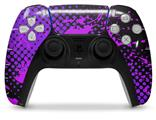 WraptorSkinz Skin Wrap compatible with the Sony PS5 DualSense Controller Halftone Splatter Hot Pink Purple (CONTROLLER NOT INCLUDED)