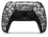 WraptorSkinz Skin Wrap compatible with the Sony PS5 DualSense Controller Scattered Skulls Gray (CONTROLLER NOT INCLUDED)