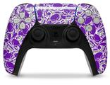 WraptorSkinz Skin Wrap compatible with the Sony PS5 DualSense Controller Scattered Skulls Purple (CONTROLLER NOT INCLUDED)