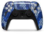 WraptorSkinz Skin Wrap compatible with the Sony PS5 DualSense Controller HEX Mesh Camo 01 Blue Bright (CONTROLLER NOT INCLUDED)