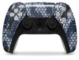 WraptorSkinz Skin Wrap compatible with the Sony PS5 DualSense Controller HEX Mesh Camo 01 Blue (CONTROLLER NOT INCLUDED)