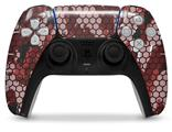 WraptorSkinz Skin Wrap compatible with the Sony PS5 DualSense Controller HEX Mesh Camo 01 Red (CONTROLLER NOT INCLUDED)
