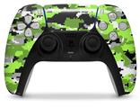 WraptorSkinz Skin Wrap compatible with the Sony PS5 DualSense Controller WraptorCamo Digital Camo Neon Green (CONTROLLER NOT INCLUDED)