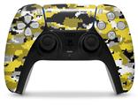 WraptorSkinz Skin Wrap compatible with the Sony PS5 DualSense Controller WraptorCamo Digital Camo Yellow (CONTROLLER NOT INCLUDED)