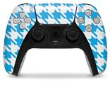WraptorSkinz Skin Wrap compatible with the Sony PS5 DualSense Controller Houndstooth Blue Neon (CONTROLLER NOT INCLUDED)