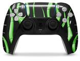 WraptorSkinz Skin Wrap compatible with the Sony PS5 DualSense Controller Metal Flames Green (CONTROLLER NOT INCLUDED)