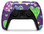 WraptorSkinz Skin Wrap compatible with the Sony PS5 DualSense Controller Crazy Hearts (CONTROLLER NOT INCLUDED)