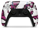 WraptorSkinz Skin Wrap compatible with the Sony PS5 DualSense Controller Butterflies Purple (CONTROLLER NOT INCLUDED)