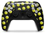 WraptorSkinz Skin Wrap compatible with the Sony PS5 DualSense Controller Smileys on Black (CONTROLLER NOT INCLUDED)