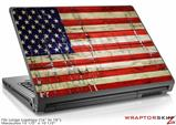Large Laptop Skin Painted Faded and Cracked USA American Flag