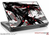 Large Laptop Skin Abstract 02 Red