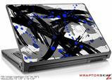Large Laptop Skin Abstract 02 Blue
