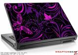 Large Laptop Skin Twisted Garden Purple and Hot Pink