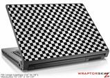 Large Laptop Skin Checkered Canvas Black and White