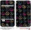 iPod Touch 2G & 3G Skin Kit Kearas Peace Signs on Black
