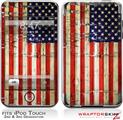 iPod Touch 2G & 3G Skin Kit Painted Faded and Cracked USA American Flag