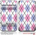 iPod Touch 2G & 3G Skin Kit Argyle Pink and Blue