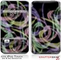 iPod Touch 2G & 3G Skin Kit Neon Swoosh on Black