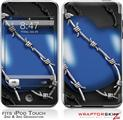 iPod Touch 2G & 3G Skin Kit Barbwire Heart Blue