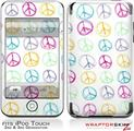iPod Touch 2G & 3G Skin Kit Kearas Peace Signs on White