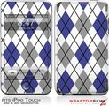 iPod Touch 2G & 3G Skin Kit Argyle Blue and Gray