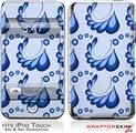iPod Touch 2G & 3G Skin Kit Petals Blue