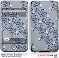 iPod Touch 2G & 3G Skin Kit Victorian Design Blue