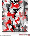 Sony PS3 Skin Sexy Girl Silhouette Camo Red