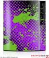 Sony PS3 Skin Halftone Splatter Green Purple