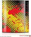 Sony PS3 Skin Halftone Splatter Yellow Red