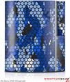 Sony PS3 Skin HEX Mesh Camo 01 Blue Bright